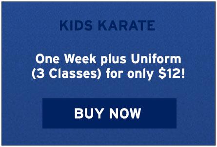 Kids Karate Coupon - One Week plus Uniform for $12. Buy Now!